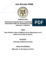Caso Práctico Sobre El Registro de Las Operaciones en El Cultivo de La Caña de Azúcar