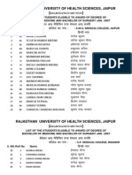 List of the Students Eligible to Award of Degree of Bachelor of Medicine and Bachelor of Surgery