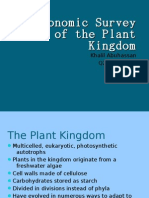 Taxonomic Survey of the Plant Kingdom - AP BIO DONOGHUE Q2 PROJECT