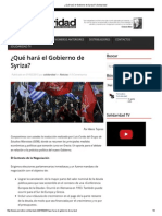 ¿Qué Hará El Gobierno de Syriza_ _ Solidaridad