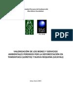 Valorización de Bienes y Servicios Ambientales