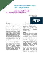 Violencia Contra La Diversidad de Género