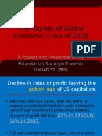 Causes of Global Economic Crisis 2008