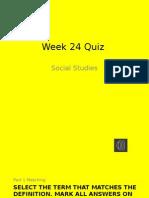 week 24 quiz ss