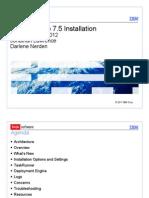 STE - Maximo 7.5 Installation