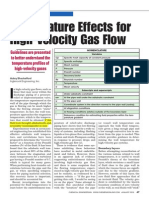 Temperature Effects for High-Velocity Gas Flow