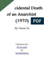 Dario FoThe Accidental Death of an Anarchist 24grammata.com