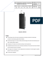 _Drinking Water Fountain (SOCO-40)_Part List & Manual