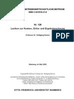 Becker 2000 Lexikon Zur Kosten- Erloes- Und Ergebnisrechnung