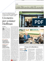 20150213 La Vanguardia - Un Metro Per a Mister Hoffman