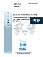 Span-standard and Typical Drawing for Sewerage System Part 1 (Sewer and Appurtenances -Gravity Sewer
