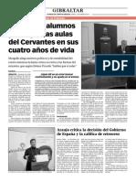 150213 La Verdad- Unos 4.000 Alumnos Pasan Por Las Aulas Del Cervantes en Sus Cuatro Años de Vida
