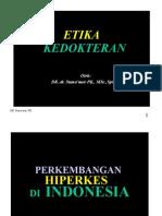 Etika Kedokteran PLD Dr. Suma'Mur