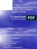 Hipotensive Drug in Anesthesia
