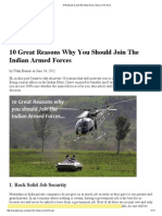 10 Reasons to Join the Indian Army, Navy or Air-Force