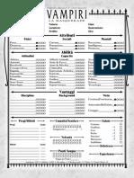Vampire Masquerade Character Sheet