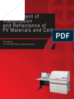 Measurement of Transmission and Reflectance of PV Materials and Cells