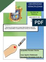 Proyecto #1. Variaciones de La Glucosa en Ayuno y Postprandial