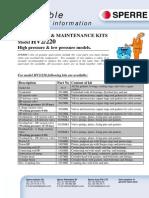 Available Maintenance Kits HV2-220