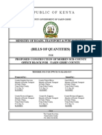 CONSTRUCTION OF MOIBEN SUB-COUNTY OFFICE BLOCK