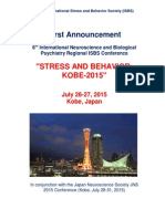 6th International Neuroscience and Biological Psychiatry Conference STRESS and BEHAVIOR KOBE 2015