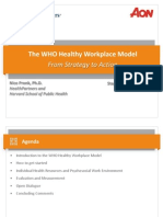 WHO Healthy Workplace Model From Strategy to Action