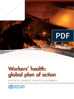 Workers' Health- Global Plan of Action
