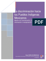 La discriminación hacía los Pueblos Indígenas Mexicanos