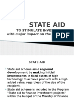 State Aid subventions romania 2014 2020
