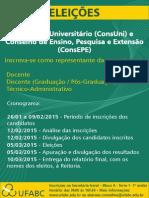 Cartaz - Eleições Conselhos 2015