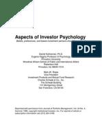 Amos Tversky and Daniel Kahneman - Investor Psychology