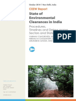 State of Environmental Clearances in India