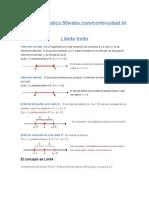 Limite Continui derivada y aplicaciones