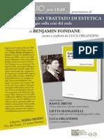 """Presentazione del """"Falso Trattato di estetica"""" di Benjamin Fondane"""
