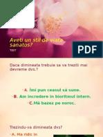 Презентация Stil de Viata