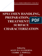 Specimen Handling, Preparation, And Treatments in Surface