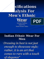 Specifications Analysis for Men's Ethnic Wear