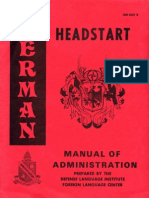 German Headstart - Manual of Administration