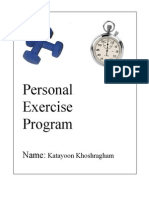 Personal Exercise Program.fitness Class