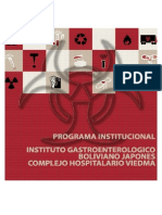 Programa Institucional - Instituto Gastroenterológico Boliviano Japones - Complejo Hospitalario Viedma