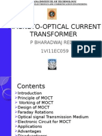 magneto optic current transformer