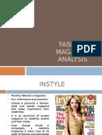 fashion magazine analysis