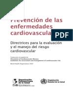 Directrices Para Evaluacion y Manejo Del Riego CV de OMS