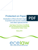Paper on species at risk