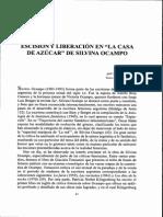 2100_2842011_Escisión y Liberación en La Casa de Azúcar de Silvina Ocampo