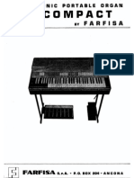 Farfisa Combo Compact Complete User Service Manual