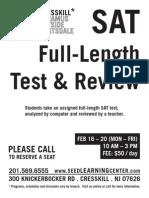 Cresskill SAT Test Review Feb 2015