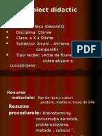 Alcani vs Alchene