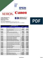 _Lista de Precios TECHPRINT YARLIN Al 13 de Enero 2014