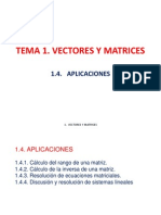 Vectores & Matrices (APLICACIONES)